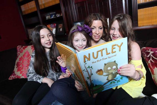 "Stephanie Sorkin, author of ""Nutley the Nut-Free Squirrel,"""