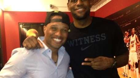 The Yankees' Robinson Cano, left, and Miami Heat's