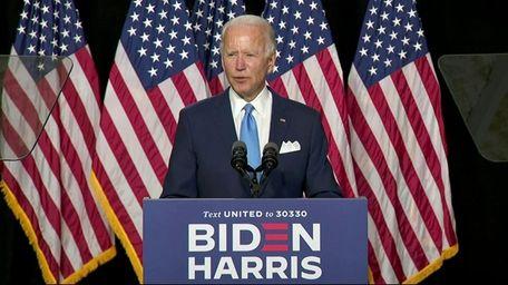 Joe Biden introduced his newly chosen running mate