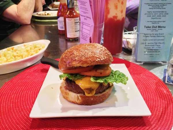 The burger at Mara's Homemade in Syosset is