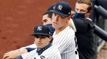 Aaron Judge and Tyler Wade of the Yankees