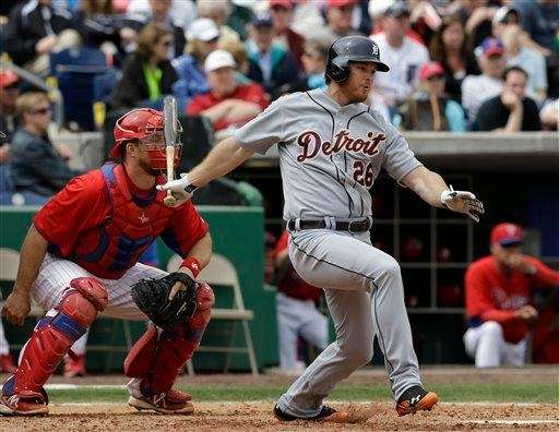 Detroit Tigers right fielder Brennan Boesch bats during