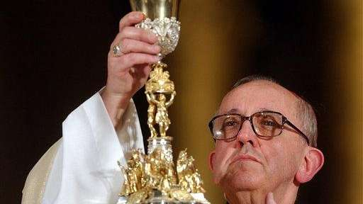 Jorge Bergoglio celebrates Mass in honor of Pope