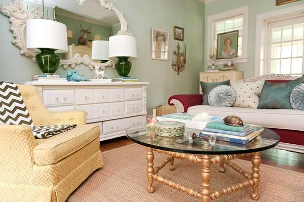 """Downton Abbey""-inspired decor informs Kristie Barnett's home, including"