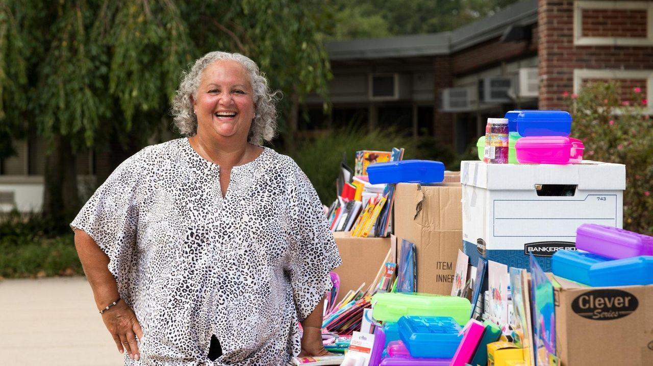 Leslie Friedman of Elwood poses outside Oakwood Primary