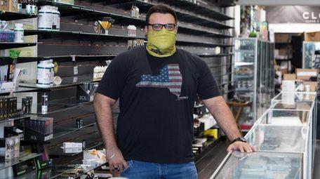 Samet Bal, co-owner of Cloud Vapor & Smoke