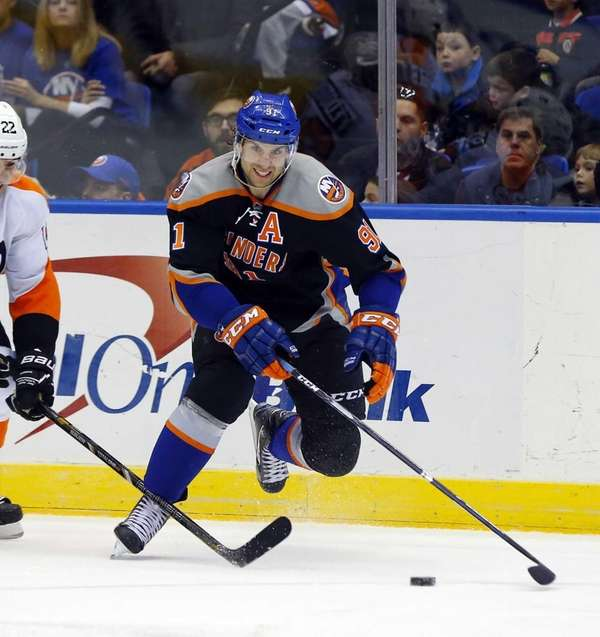 John Tavares skates during a game against the