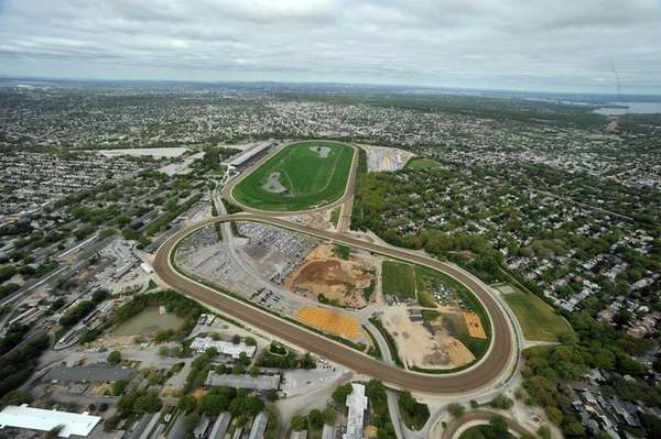 An aerial view of belmont racetrack in elmont may 11 2011 photo