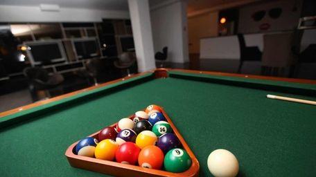 Billiard balls ready for play. (Feb. 14, 2013)