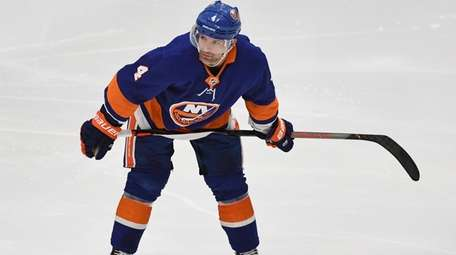 Islanders defenseman Andy Greene skates during an NHL