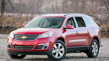 The 2013 Chevrolet Traverse, which can seat seven