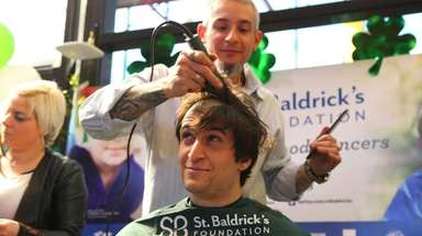Michael Murn gets his head shaved, he said,