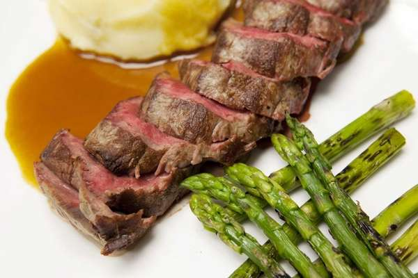 West East's filet mignon, with mashed potatoes and
