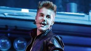 Justin Bieber performs at the MGM Grand Garden