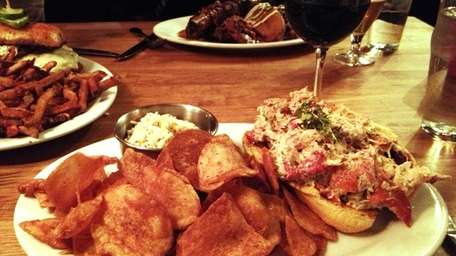 At Left Coast Kitchen in Merrick, a lobster
