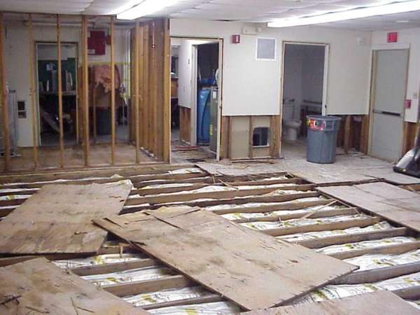 This November 2012 photo shows the damage done