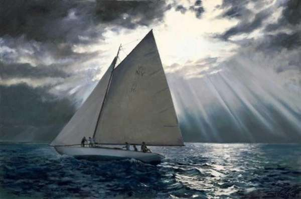 """Clear Ahead,"" a 2012 oil on canvas, earned"