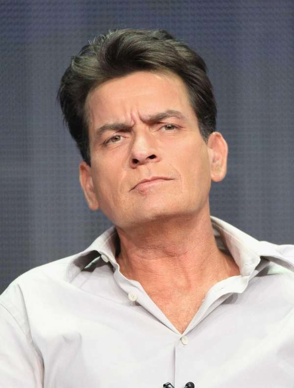 "Charlie Sheen speaks onstage at the ""Anger Management"""