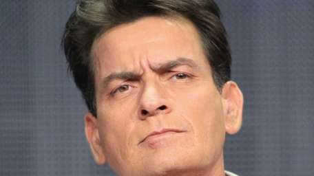 Charlie Sheen speaks onstage at the