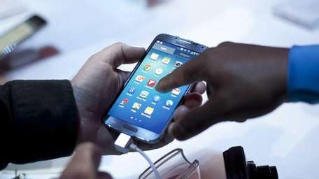 The Samsung Galaxy S4 at its unveiling in