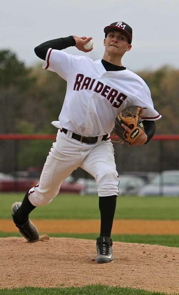Matt Vogel of Patchogue-Medford pitches in a game.