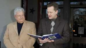 Town councilman John Dunleavy, left, with Town of