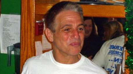 Actor Tony Danza behind the bar at Connolly's