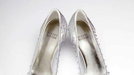 These glass slippers designed by Stuart Weitzman will
