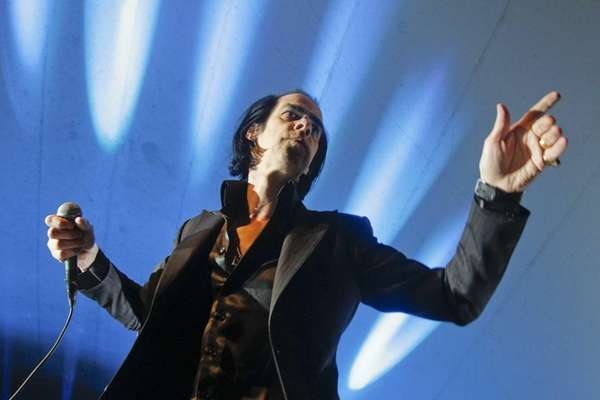 Nick Cave and the Bad Seeds perform during