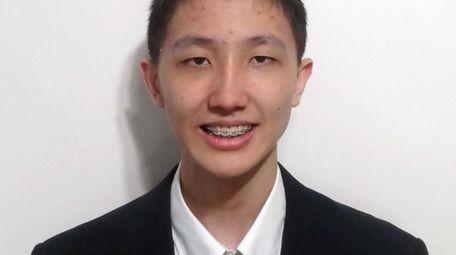 Victor Li, a senior at The Wheatley School