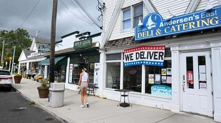 Businesses on Main Street in East Moriches