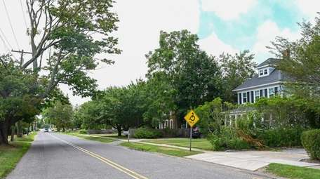Homes along Atlantic Avenue in East Moriches