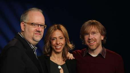 From left, playwright Doug Wright, composer-lyricist Amanda Green