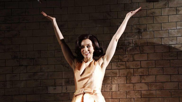 Tina Benko as Jacqueline Kennedy Onassis in the
