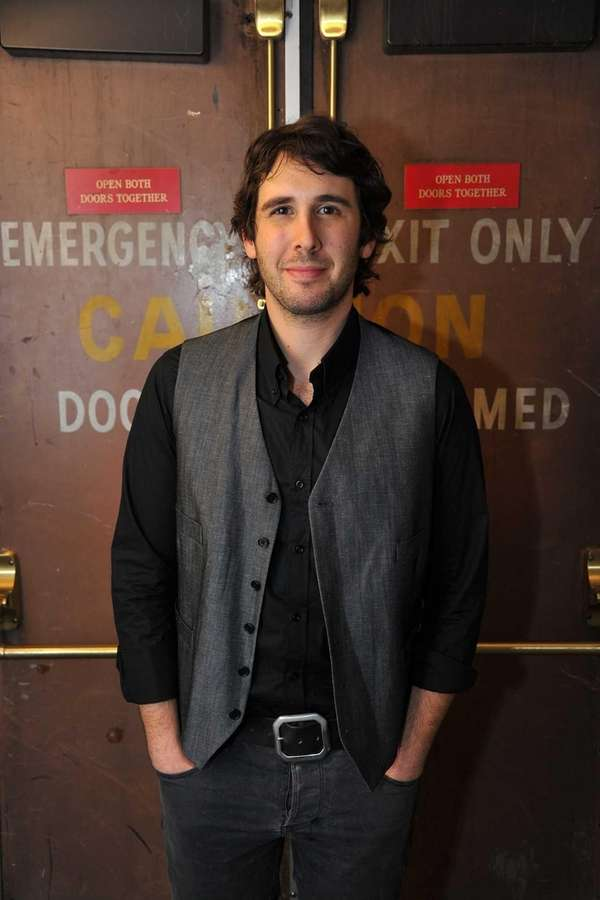 Josh Groban after his performance at iHeartRadio Theater