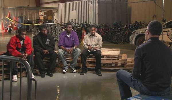NBC's Lester Holt interviews four of the men