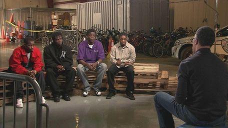 NBC's Lester Holt interviews four of the men