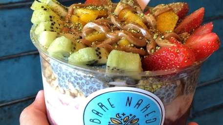 An acai bowl topped with fruit from Bare
