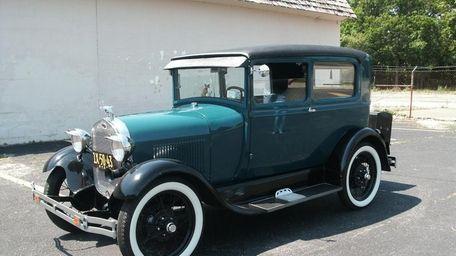 This 1928 Model A Ford Tudor sedan is