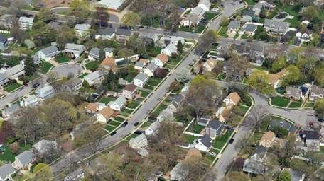 An aerial view of North Merrick. Nassau County