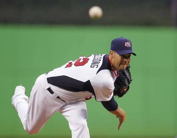 United States' Ryan Vogelsong delivers a pitch during