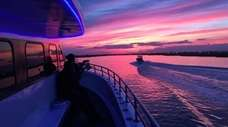 Sunset cruises are offered three times a week