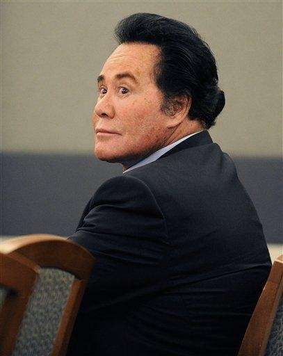 Entertainer Wayne Newton in court in Las Vegas.