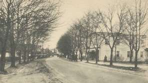 Looking west on Main Street in Smithtown in