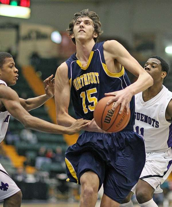 Northport's Luke Petrasek runs into traffic under the