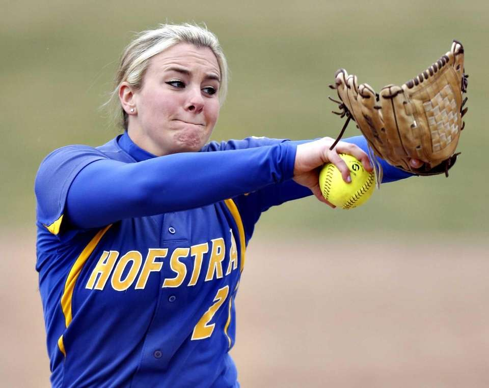 Hofstra pitcher Olivia Galati delivers during the game