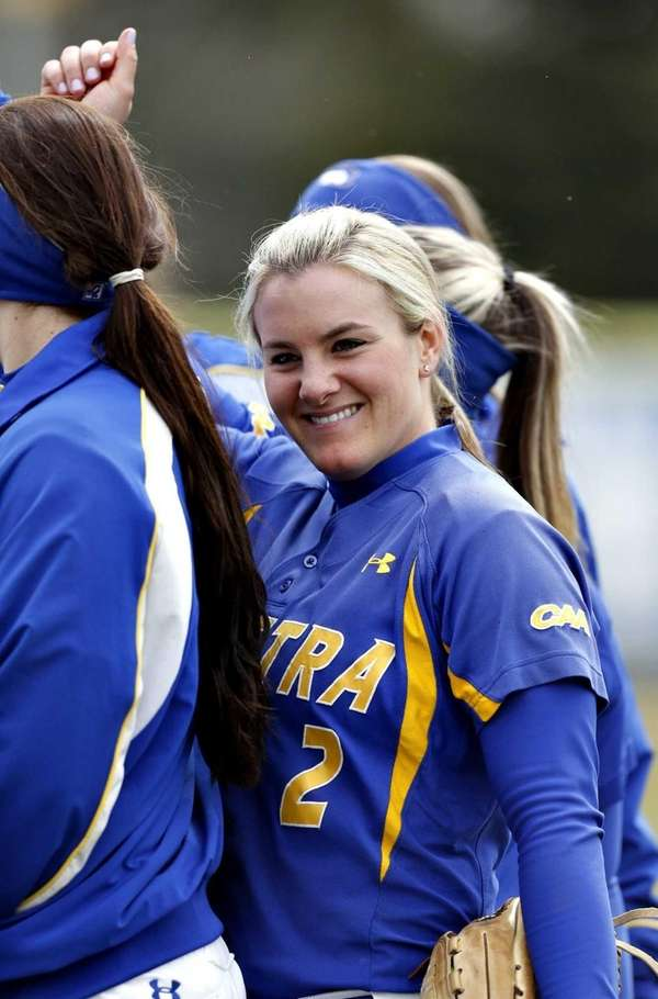 Hofstra pitcher Olivia Galati (2) with a broad