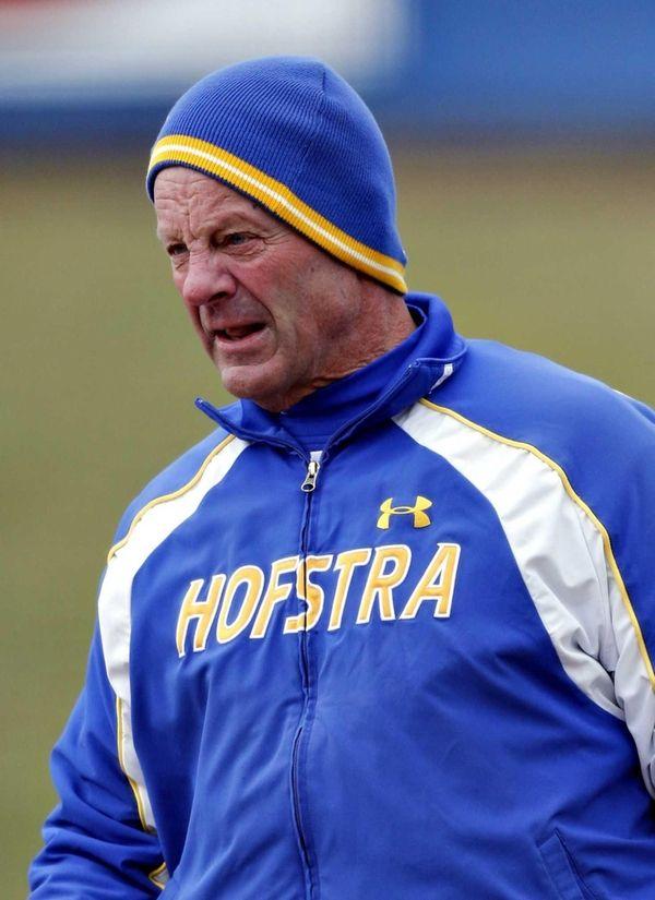 Hofstra head coach Bill Edwards is seen on