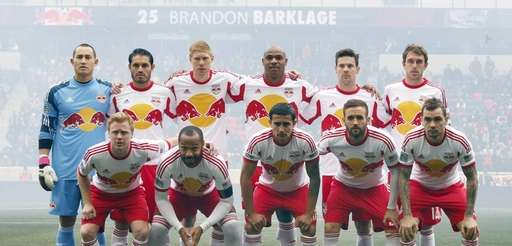 The starting lineup of the New York Red