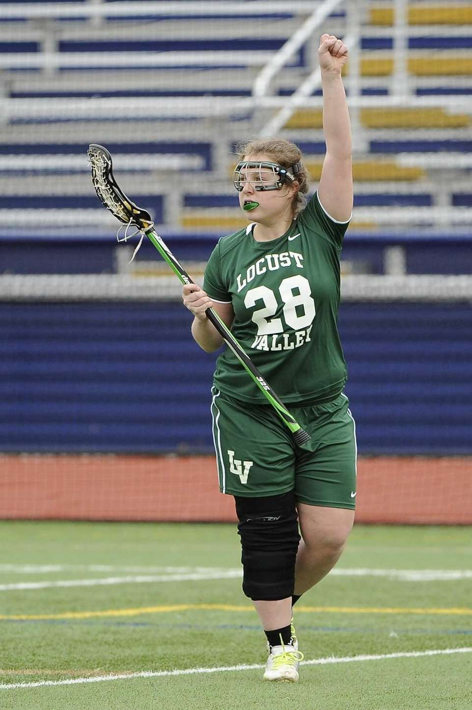 Locust Valley's Julia Palermo calls a play against